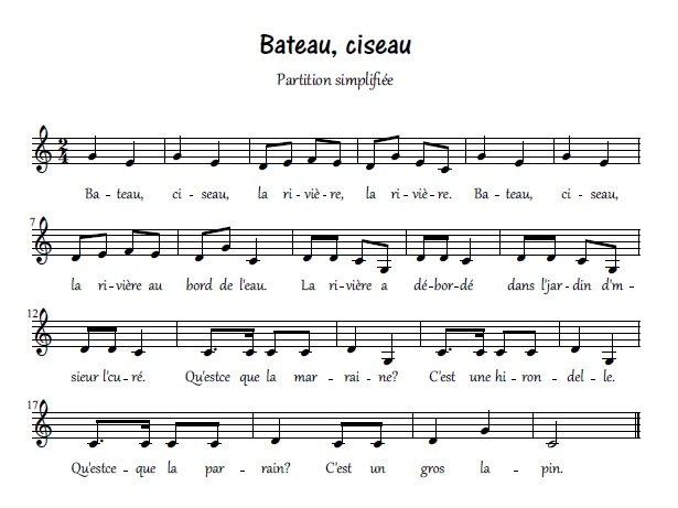 Bateau, ciseau_partition simplifiée
