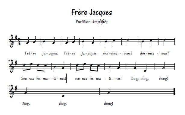 Frère Jacques_partition simplifiée